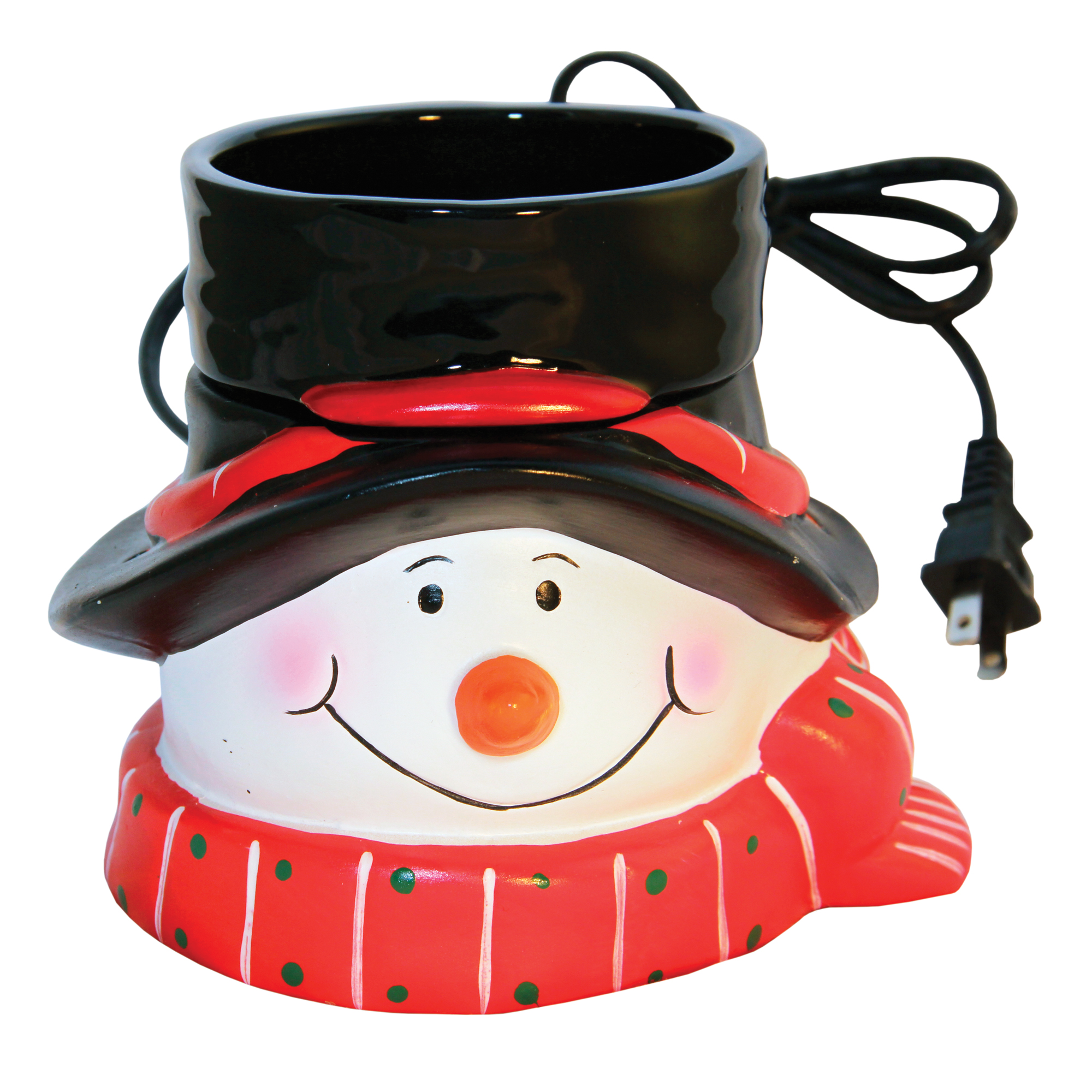 RED/WHITE/BLACK SNOWMAN TABLE TOP ELECTRIC WAX MELTER
