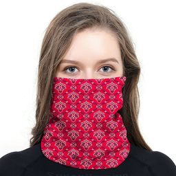 RED PAISLEY FACE MASK