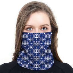 NAVY SCROLL FACE MASK