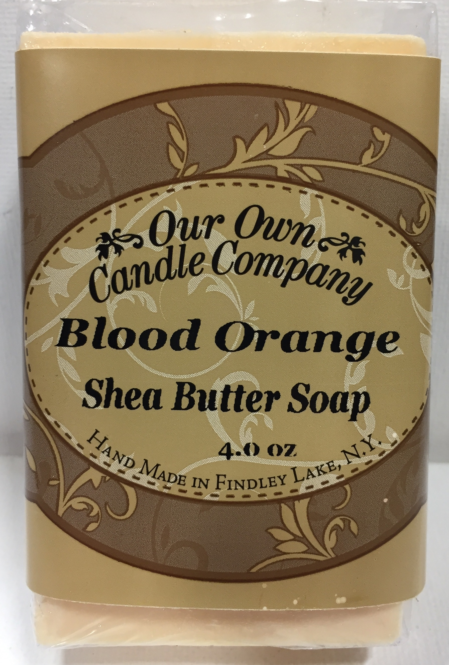 BLOOD ORANGE SHEA BUTTER SOAP 4 OZ UPC# 813542026540