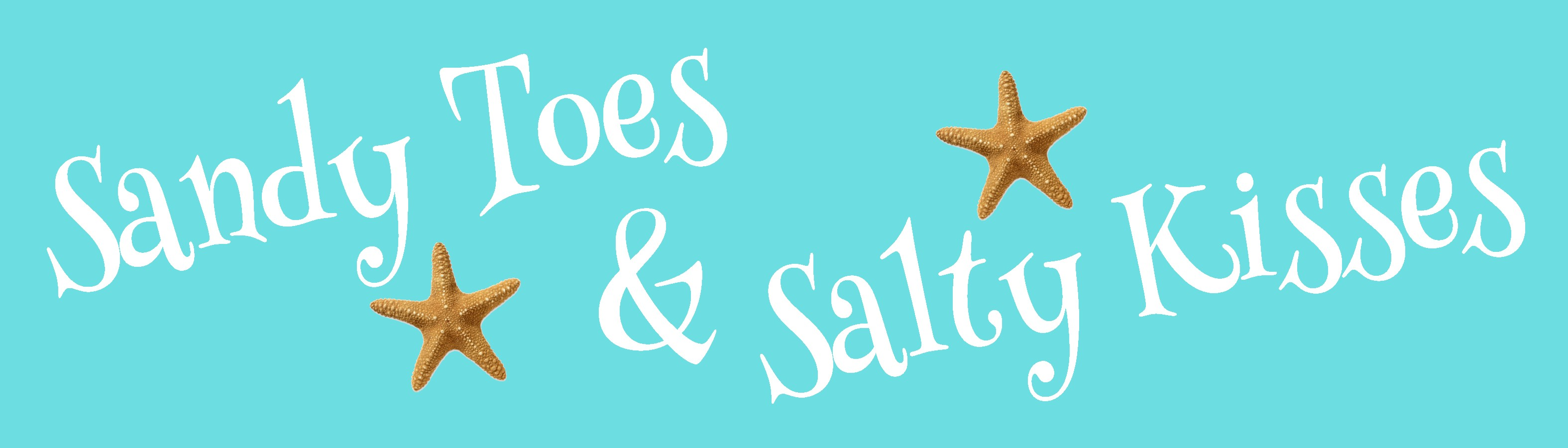 """SANDY TOES & SALTY KISSES 10.5"""" X 3"""" WOODEN BLOCK SIGN"""