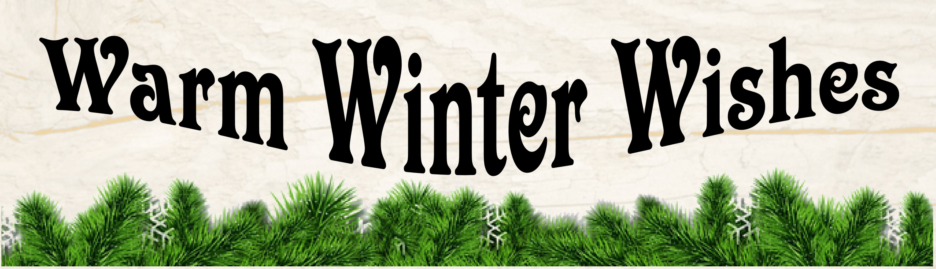 "WARM WINTER WISHES 10.5"" x 3"" WOODEN BLOCK SIGN"